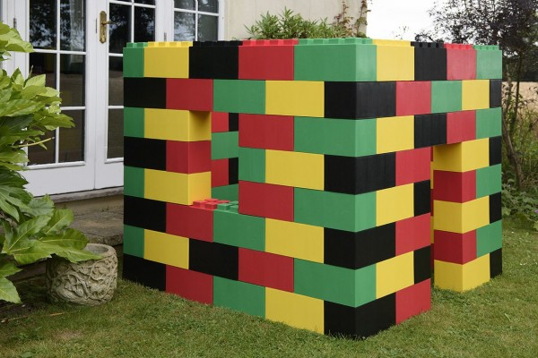 Multi coloured block - house  Photo_A