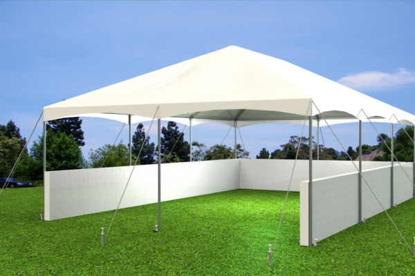 Tent pic pony wall white front